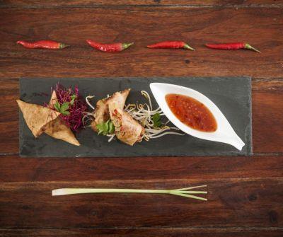 Samosas: vegetarisch